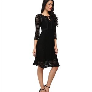 Nanette Lepore Dresses - Nanette Lepore Black crochet drumbeat dress